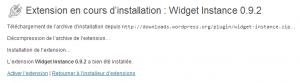 Activer Widget Instance plugin 300x83 Comment créer une zone à widgets et afficher un widget WordPress dans un page